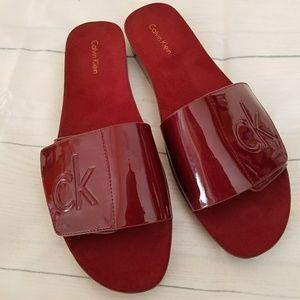 NWOT Calvin Klein slide on sandals.  Size 10